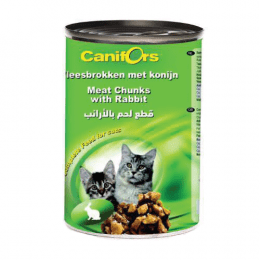 Canifors Cat Food Meat Chunks with Rabbit 24x410g