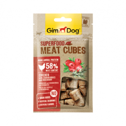 GimDog Superfood Meat Cubes chicken with cranberries and rosemary 40 g