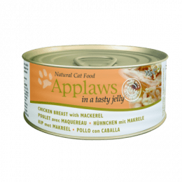 Applaws Chicken with Mackerel in Jelly can 70g- x24