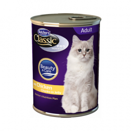 Butcher's Classic Pro Chunks in Jelly Wet Food Cans for Cats 24x400g
