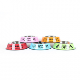 Stainless steel bowl for Cats vary drawings 1000 ml