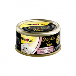 GimCat ShinyCat Filet chicken with Shrimp 24x70g