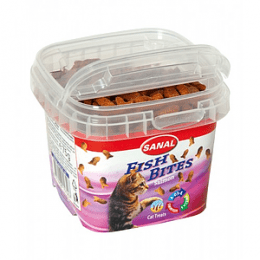 Sanal Treat Fish Bites in cup-75g