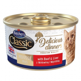 Butcher's Classic Delicious Dinners Wet Cat Food Can 24x85g
