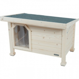 Zolux Niche Wooden Flat Roof Outdoor Dog House Large