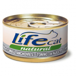 Life Cat Natural Wet Food Cans Tuna and Anchovies 24x70g