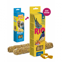 RIO Sticks treats with honey and flowers for Budgies and Exotic birds 40g