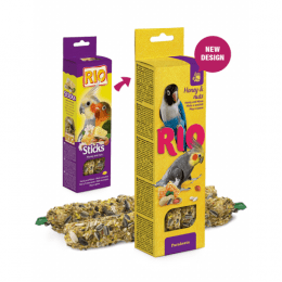 RIO Sticks treats with honey and nuts for Parakeets 75g