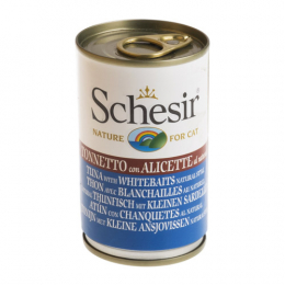 Schesir Tuna with whitebaits natural style cans 24x140g