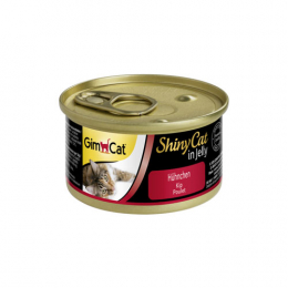 GimCat ShinyCat in Jelly chicken 24x70g