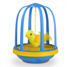 OurPets Interactive game for cats, animated bird cage