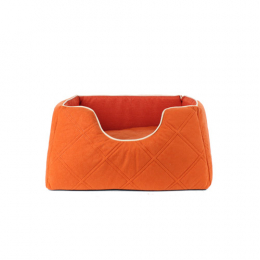 square comfy bed 3 sizes - Orange