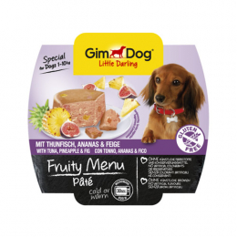 GimDog Fruity Menu Pate with Tuna and pineapple & fig 8x100g