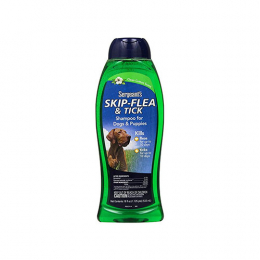 Sergeant's Skip-Flea and Tick Shampoo for Dogs, Clean Cotton, 18 oz