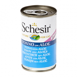 Schesir kitten Tuna with Aloe cans 24x140g