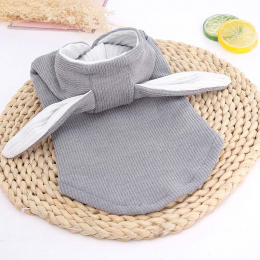 Sweater with rabbit shape-gray