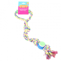 Crazy Paws rope tug with handle