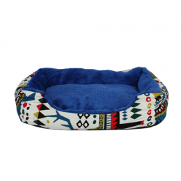Colorful pattern bed blue