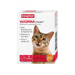 Beaphar WORMclear for Cats- 2 Tablets
