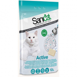 Sanicat Clumping Active White Bentonite 10L