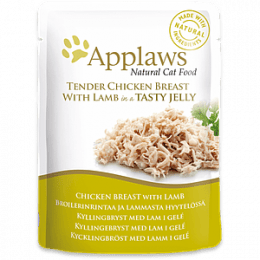Applaws Chicken Breast with Lamb in Jelly Pouch 16x70g