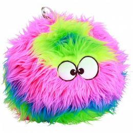 goDog Rainbow Furballz Plush Dog Toy