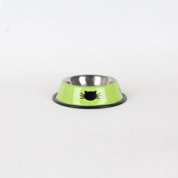 Stainless steel bowl with small cat faces 150 ml