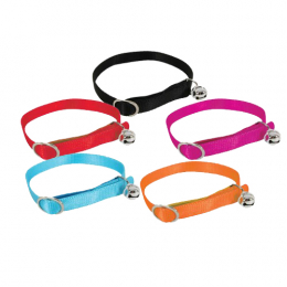 ZOLUX HARNESS PRODUCTS Adjustable Nylon collar for cats with bells