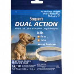 Sergeant's Dual Action Collar Flea & Tick Collar for Small Dogs & Puppies