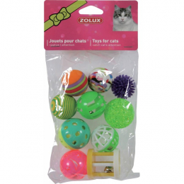 ZOLUX 10 MULTI-SHAPED TOYS 4 CM