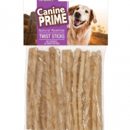 Canine Prime Twist Sticks Natural Rawhide 20 ct.
