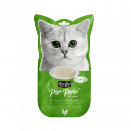 Kit Cat Purr Puree Plus+ Chicken & Collagen Care (Collagen Care) 4 Sachets x 15g