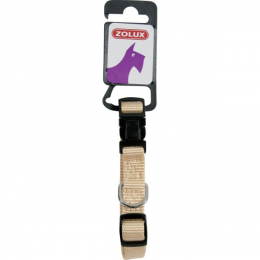 Zolux Adjustable Nylon Collar - Beige