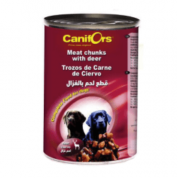 Canifors Dog Food Meat Chunks with Deer 410gx24