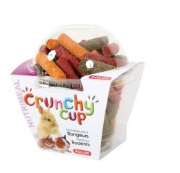 ZOLUX Crunchy Cup Sticks Lucerne-Carrot-Beetroot