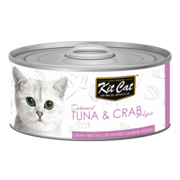 Kit Cat Deboned Tuna & Crab Can 24x80g