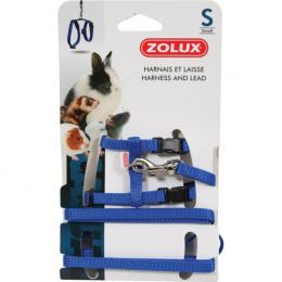 Zolux Small Animal Blue Harness & Lead