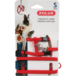 Zolux Small Animal Red Harness & Lead