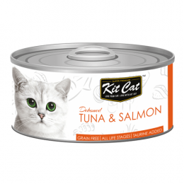 Kit Cat Deboned Tuna & Salmon Can 24x80g
