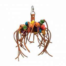 Penn Plax Leather Kabob Bird Toys