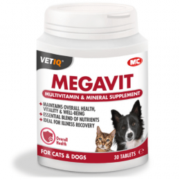 VetIQ Megavit Multivitamin & Mineral Supplement 30 Tablets