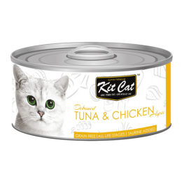 Kit Cat Deboned Tuna & Chicken Can 24x80g